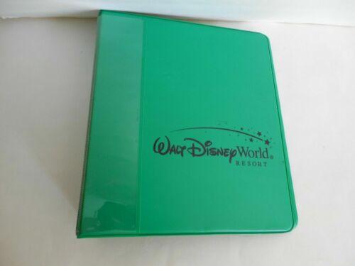 Walt Disney World Resort Green Small 3 Ring Binder Prop Folder Cast Member?