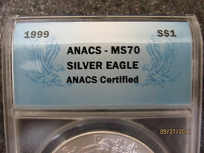 Click now to see the BUY IT NOW Price! 1999 MS 70 LADY LIBERTY SILVER EAGLE DOLLAR 1 TROY OZ.  POP 65 OF 7,480,000