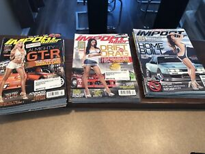Lot de magazines import tuner (+/-25)
