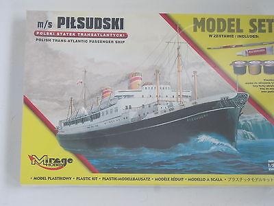 MS Pitsudski Passagierschiff incl. Pinsel Klebstoff Farben 1:500 *NEU* Bausatz