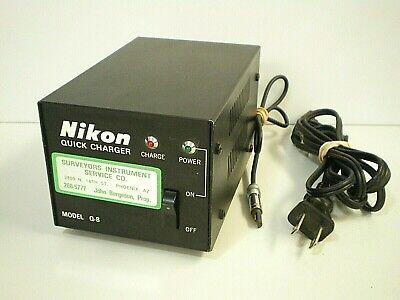 Nikon Light Rangefinder Quick Charger Model Q-8 Surveying Equipment Accessory