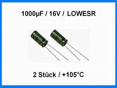 5 x 1000uF 16V JACKCON Electrolytic Capacitor 105C e !
