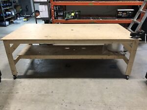 Shop Table/ Work Bench and 2 Husky tool Boxes