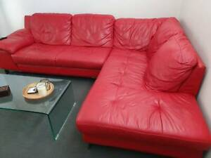 Leather Modular Lounge, good condition