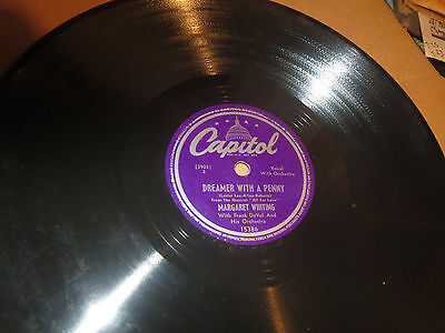 78RPM Capitol Margaret Whiting, Forever and Ever / Dreamer With Penny clean VV+