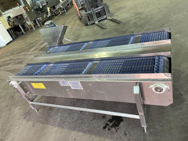 """14"""" x 96"""" Stainless Steel Packaging Conveyor, Table Top"""
