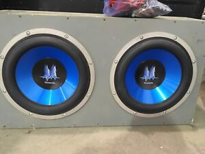 """2 12"""" Subs with Amp"""