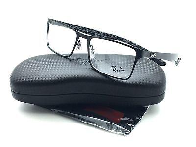 Ray Ban Men Black New Eyeglasses RB Carbon Fiber 8415 2848 53 Plastic