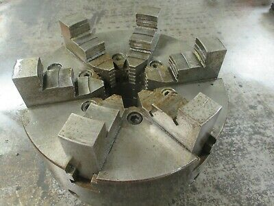 Used Buck 10 6-jaw Universal Lathe Chuck With D1-6 Backplate 5106 Km
