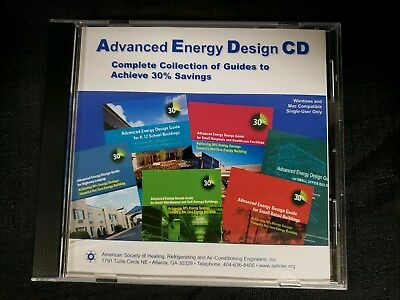 ASHRAE Advanced Energy Design Complete Guide Collection CD New in Case (Cd Case Design Template)