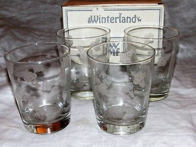 WMF Winterland Penguin Glasses - Set of 4 -14 1/2 oz Designed by Chris Costello