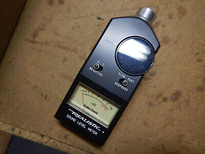 Older Radio Shack Realistic Sound Level Meter