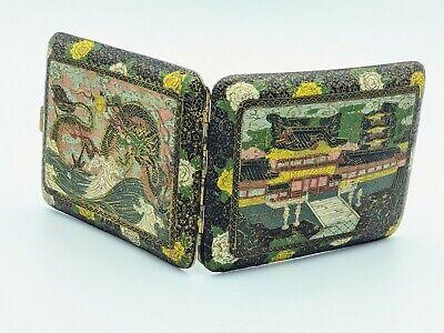 Vintage Japanese Dragon Etched Cigarette Case