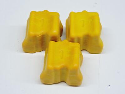 3x Genuine No Box Xerox Phaser 8560 8560MFP Yellow Ink Stick 108R00725