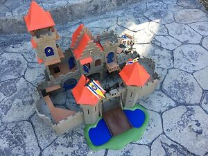 Playmobil Castle with a few people and a horse
