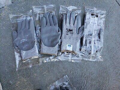 NEW (12pr) LARGE G-tek CR Plus 19-D650 Dyneema Cut Resistant Gray Work Gloves Cr Plus Gloves
