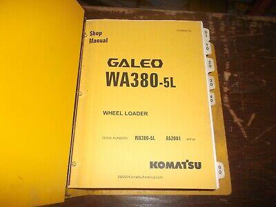 Komatsu Galeo Wa380-5l Front End Wheel Loader Tractor Shop Service Repair Manual