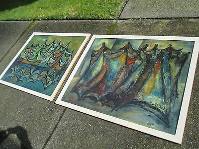 1964 SEATTLE DANCERS Westenhaver mcm vtg washington abstract painting witco art