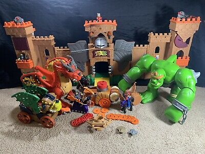 Fisher-Price Imaginext Eagle Talon Castle Mixed Lot Dragons Knights + More
