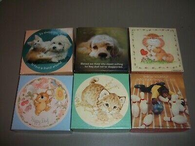 Lot of 6 Vintage Springbok Mini Jigsaw Puzzles