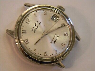 VINTAGE 1977 LONGINES ADMIRAL L633.2 AUTOMATIC 17J SS WATCH - RUNS - GREAT TIMER