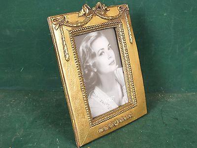 Exclusiver Stand Bilderrahmen Rahmen goldfarben Ornament Verziert ca 16 x 20 cm (Bilderrahmen 20 X 16)