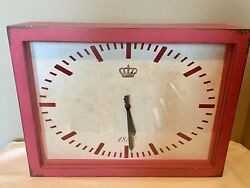 PORTLAND Distressed Wall Mantle Clock By Foreside Rectangle 15 Pink Daiquiri
