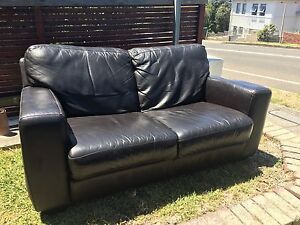 Brown leather sofa Dover Heights Eastern Suburbs Preview
