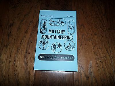 U.S ARMY MILITARY MOUNTAINEERING HANDBOOK TRAINING BOOK