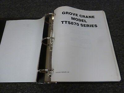 Grove Model Tts870 Hydraulic Mobile Truck Crane Shop Service Repair Manual
