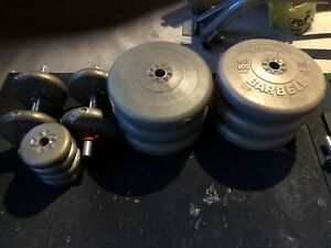 180lbs Weights with 3 bars and Bench Press