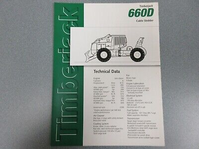 Timberjack 660d Cable Skidder Sales Brochure 6 Pages