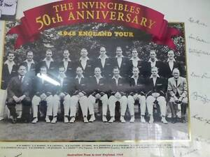 THE INVICIBLES 1948 50th Anniversay Framed Picture Campbelltown Campbelltown Area Preview
