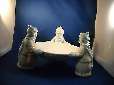 AVON 2002 PRESIDENT'S CLUB HOLIDAY GIFT COLLECTION CERAMIC SNOWLADY BOWL  CHINA