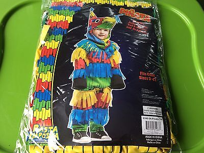 NEW Mexican PINATA Donkey Party Costume Child Boys Girls Kids Toddler 3T/4T