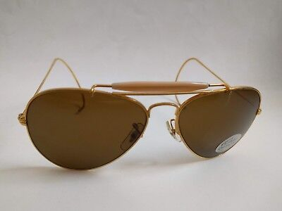 Vintage Classic Outdoorsman style Aviator with Optical Glass Lens & cable (Outdoorsman Style)