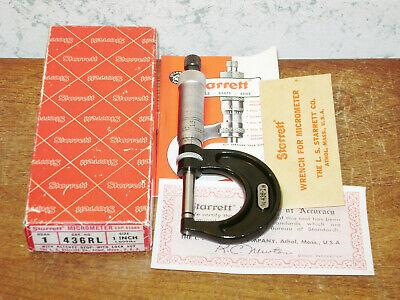 Starrett 0-1 Inch Micrometer No 436rl W Box