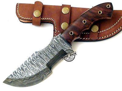 Damascus Tracker Knife Handmade Best Damascus Hunting Bowie Skinner Knife (Best Damascus Hunting Knives)