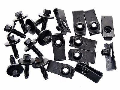 Chevy Body Bolts & U-Nuts- M6-1.0mm x 22mm Long- 8mm Hex- Qty.10 ea.- #137