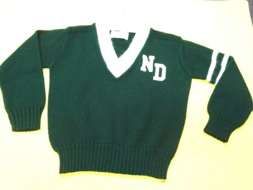 University North Dakota Marlomar Knits 100% Turbo Acrylic Childs V Neck Sweater*