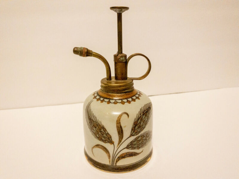 Plant Water Spritzer Mister Mexico Vintage Lead Free Stoneware Hand-painted