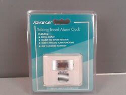 Advance talking travel alarm clock