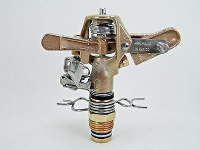 1 Rebuilt Rain Bird 25a  Brass Impact Sprinkler- Fast Return- Free Repair Kit