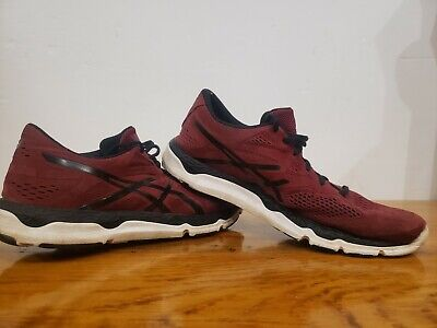 Asics T533n 33-fa Mens Running walking crossfit Shoes Size 10 burgundy wine