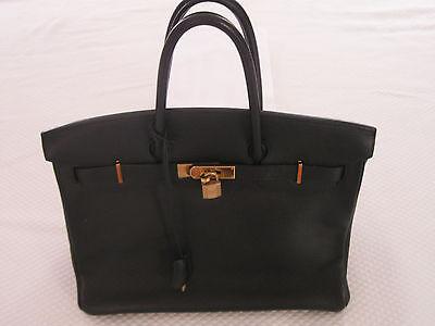 Hermes Birkin 35 Black Togo Leather Handbag - Gold Hardware, NIB