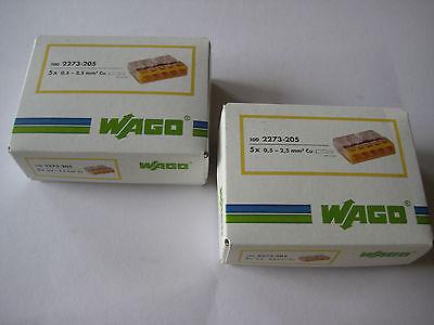 200 Wago Klemmen 5x0,5-2,5 orig. Wagoklemmen  2273-205