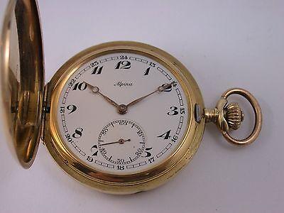 Traum Taschenuhr Alpina um 1900 Gold 585