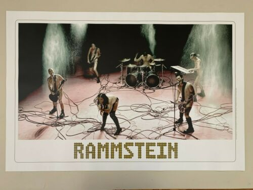 RAMMSTEIN,LIVE,PHOTO BY KASSKARA, RARE AUTHENTIC 2006 POSTER