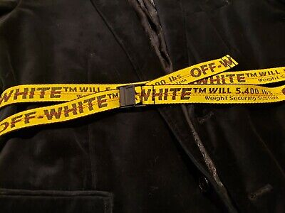 AUTHENTIC Off White Mini Industrial Belt c/o Virgil Abloh - Yellow/Black