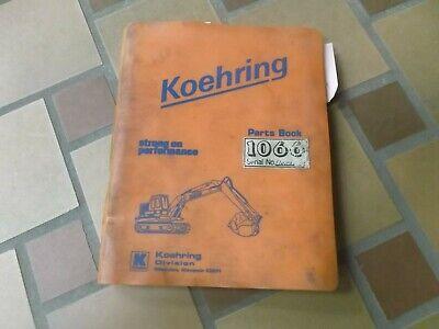 Koehring 1066 Crawler Hydraulic Excavator Scooper Parts Catalog Manual